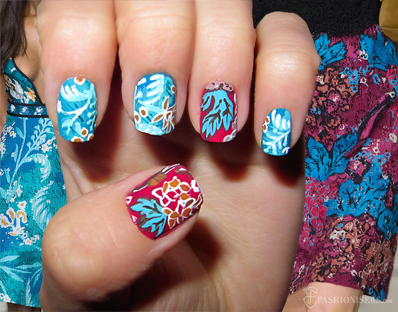 Fall 2015 Runway Inspired Nail Art Designs: Burberry Prorsum