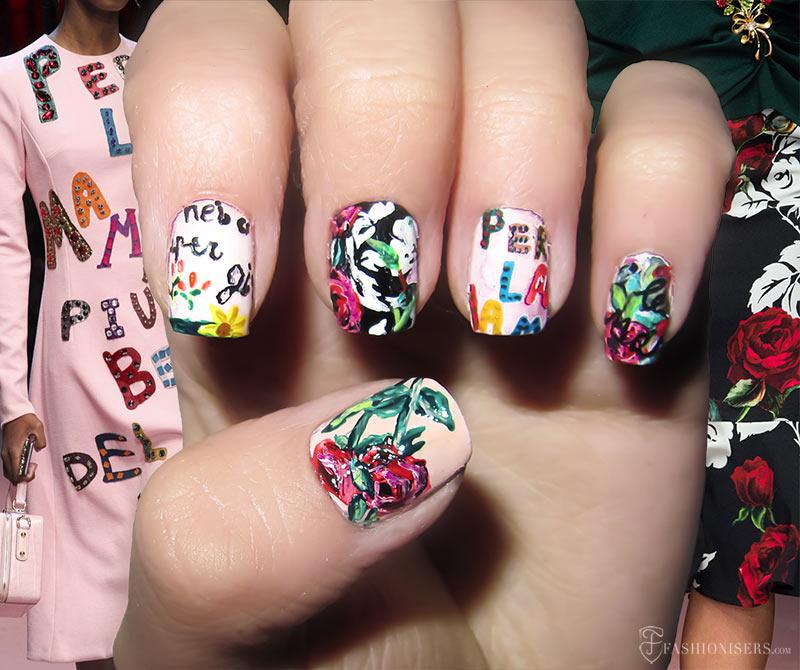 Fall 2015 Runway Inspired Nail Art Designs: Dolce & Gabbana
