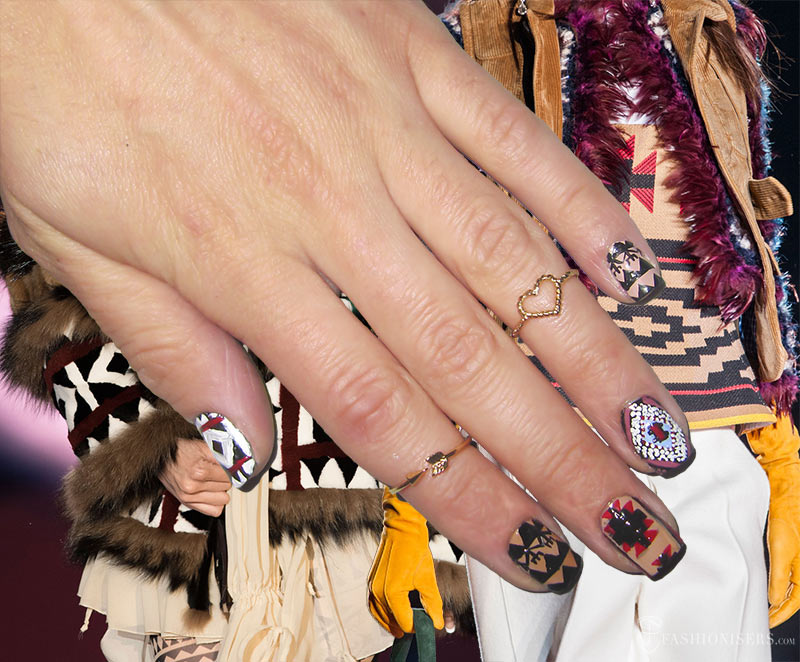 Fall 2015 Runway Inspired Nail Art Designs: Dsquared2
