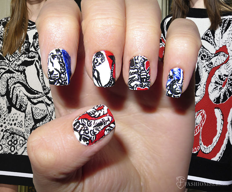 Fall 2015 Runway Inspired Nail Art Designs: Emilio Pucci