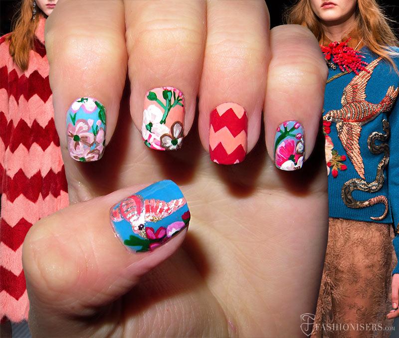 Fall 2015 Runway Inspired Nail Art Designs: Gucci