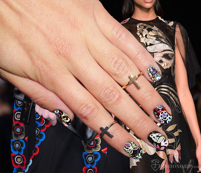 Fall 2015 Runway Inspired Nail Art Designs: Valentino