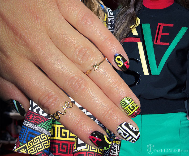 Fall 2015 Runway Inspired Nail Art Designs: Versace