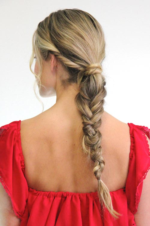 10 Hot Weather Hairstyles: Messy Fishtail Braid