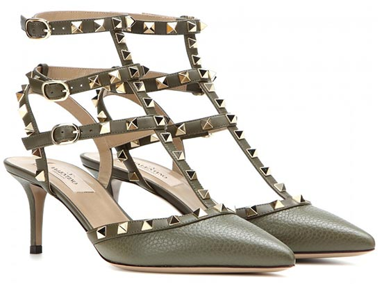 7 Military Pieces To Shop For Summer 2015: Valentino Rockstud Pumps