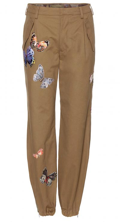 7 Military Pieces To Shop For Summer 2015: Valentino Butterfly Pants