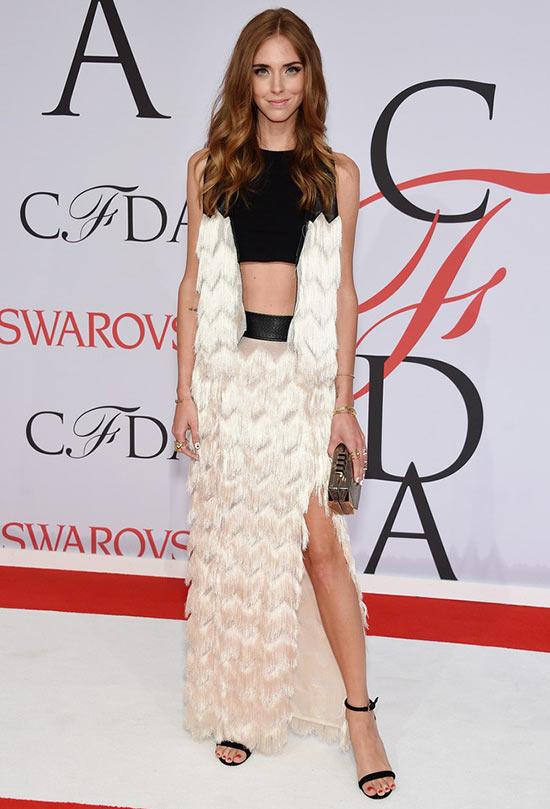 2015 CFDA Awards Red Carpet Fashion: Chiara Ferragni