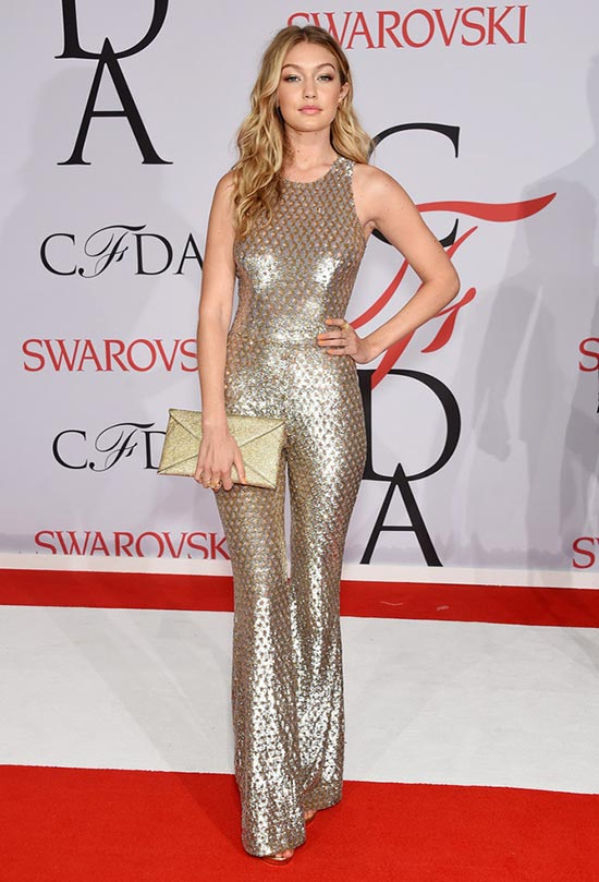 2015 CFDA Awards Red Carpet Fashion: Gigi Hadid