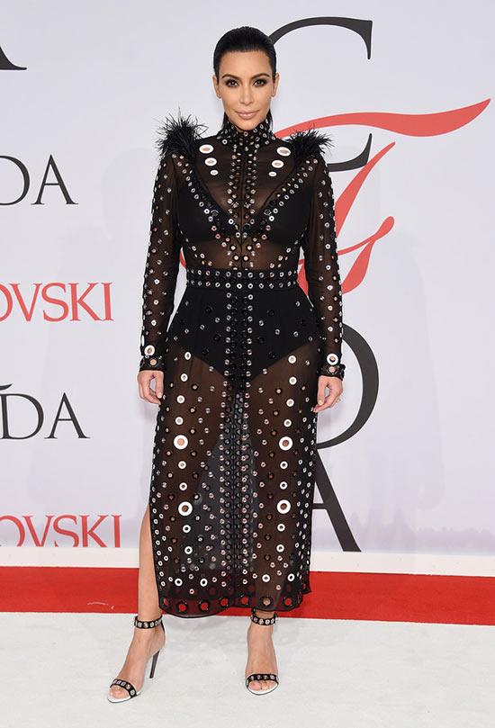 2015 CFDA Awards Red Carpet Fashion: Kim Kardashian