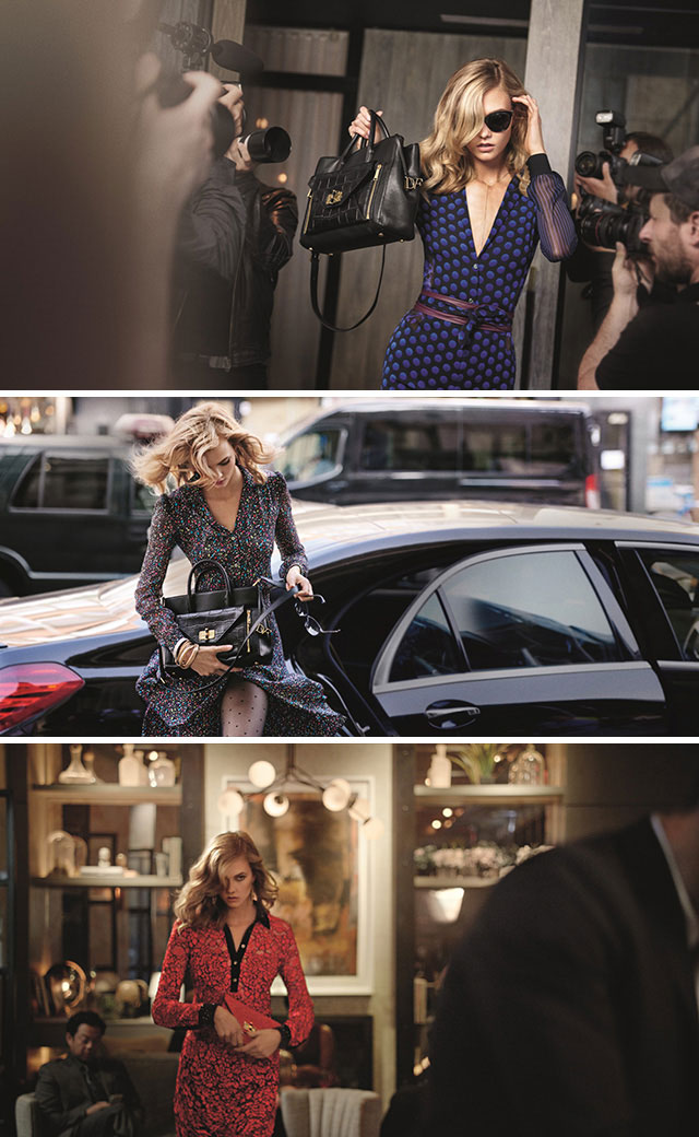 Karlie Kloss for Diane von Furstenberg Fall 2015 Campaign