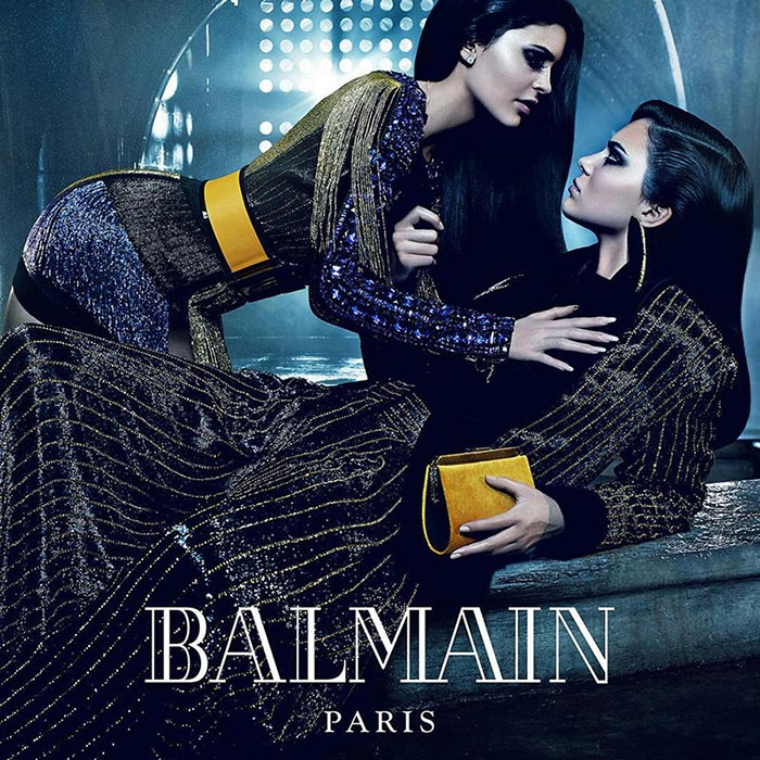 Kylie and Kendall Jenner for Balmain Fall 2015 Campaign