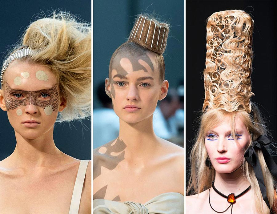 Fall 2015 Couture Beauty Trends: Strange Hairstyles