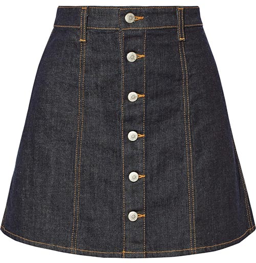 Pretty Summer 2015 Mini Skirts: Alexa Chung for AG Jeans Mini Skirt