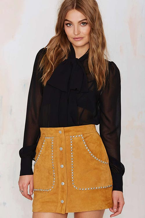 Pretty Summer 2015 Mini Skirts: Nasty Gal Suede Mini Skirt
