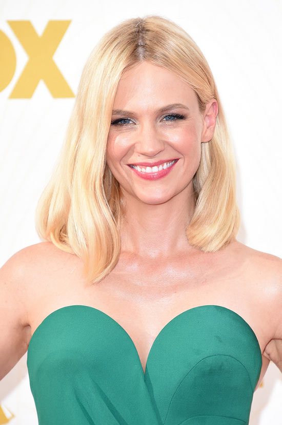 Emmy Awards 2015 Celebrity Hairstyles and Beauty: January Jones