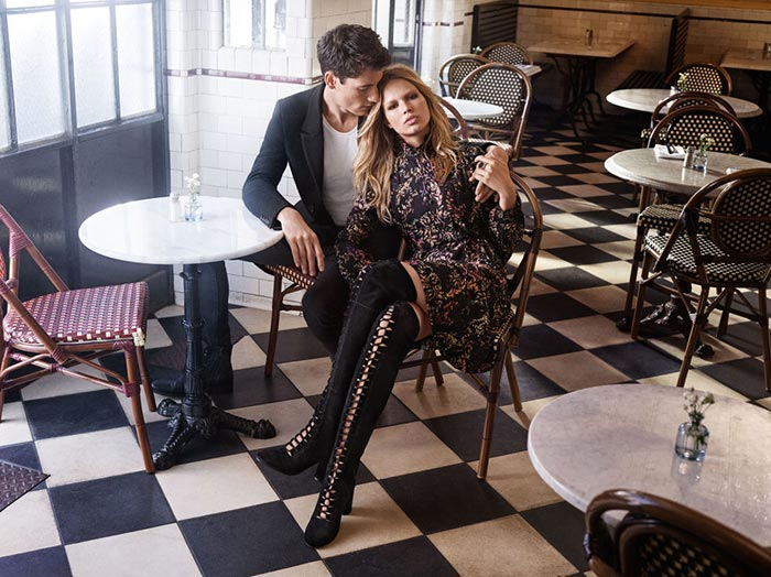 Anna Ewers Fronts H&M's Fall Campaign: Fall In Love