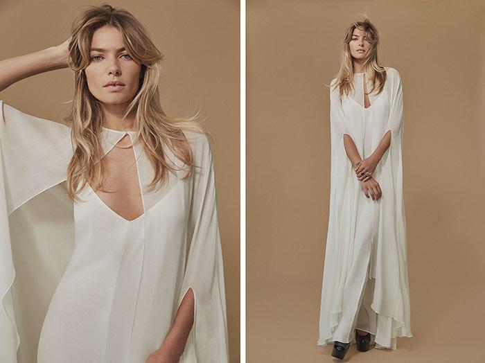 Jessica Hart in Reformation's Fall 2015 Bridal Lookbook