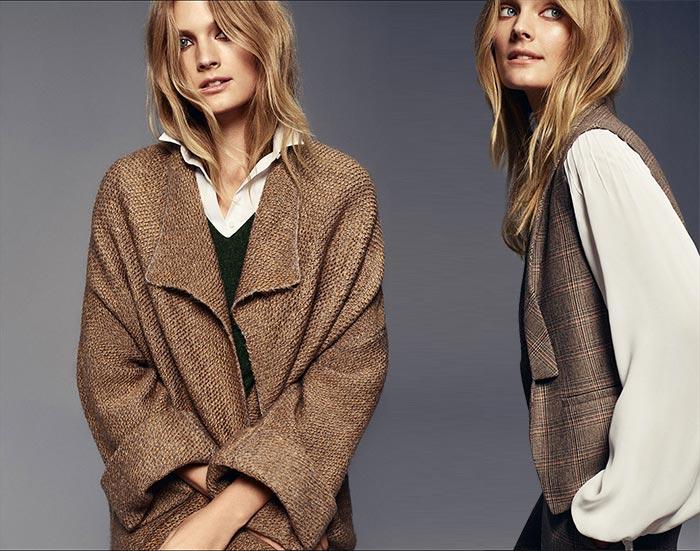 Constance Jablonski for Massimo Dutti Urban Fall 2015 Lookbook