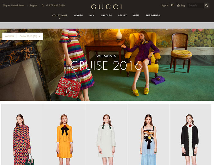 Gucci Launches A New Website Look