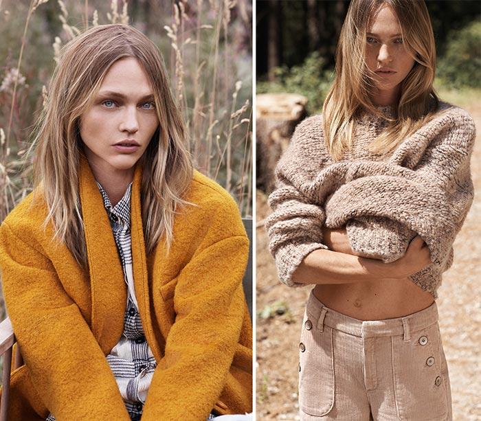 Sasha Pivovarova for Mango's Natural State Fall 2015 Lookbook
