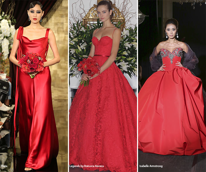 Fall 2016 Bridal Trends: Red Wedding Dresses