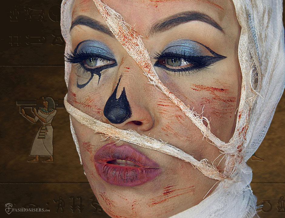 Mummy Halloween Makeup Tutorial