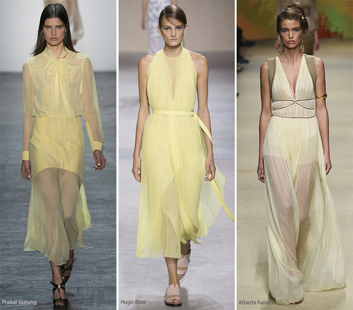 Spring/ Summer 2016 Color Trends: Yellow Chiffon