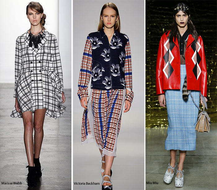 Spring/ Summer 2016 Print Trends: Plaid & Checkered Patterns