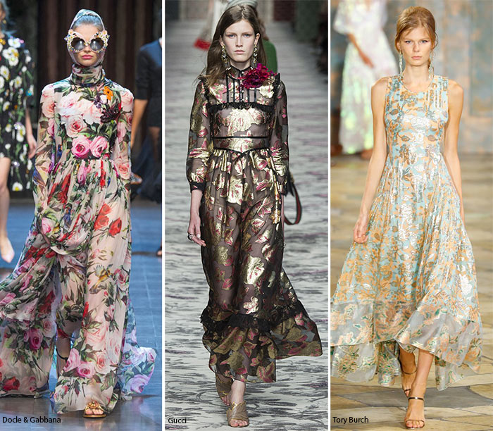 Spring/ Summer 2016 Print Trends: Romantic Floral Patterns