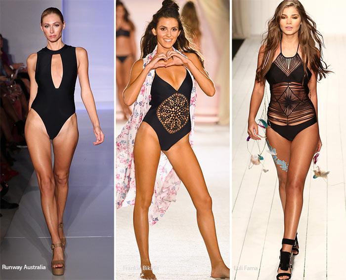 Spring/ Summer 2016 Swimwear Trends: Black Swimsuits