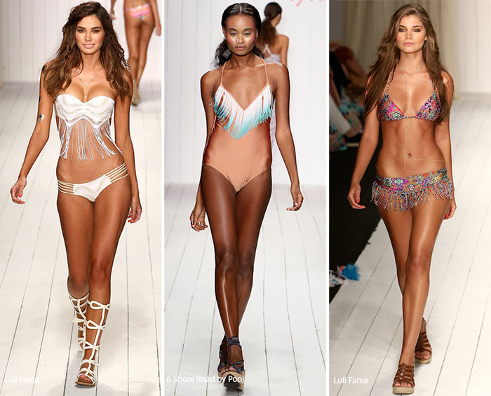 Spring/ Summer 2016 Swimwear Trends: Fringed Swimsuits