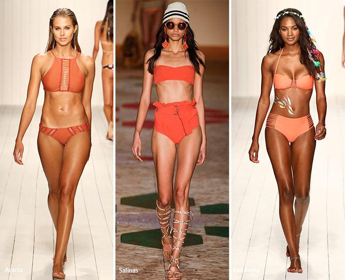 Spring/ Summer 2016 Swimwear Trends: Orange Swimsuits