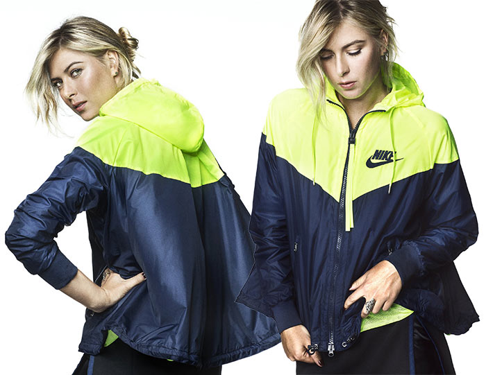Maria Sharapova for NikeLab x Sacai Winter 2015 Collection