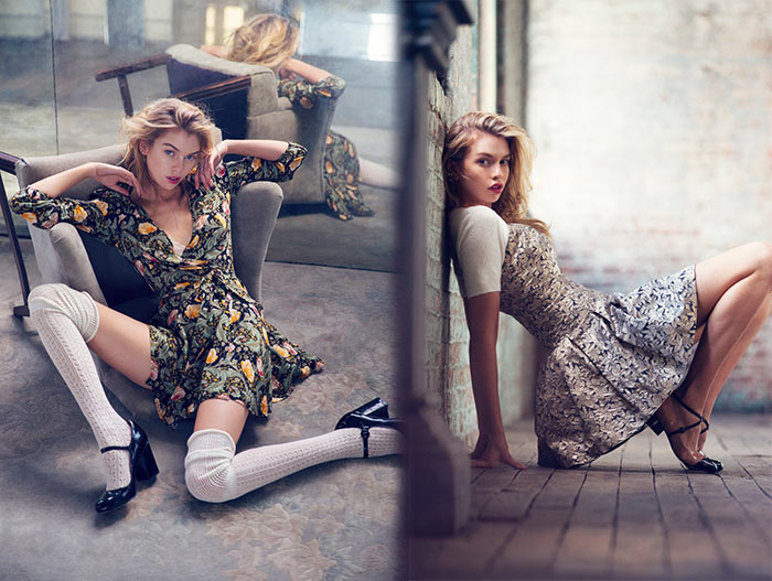 Stella Maxwell for Urban Outfitters Holiday 2015 Campaign