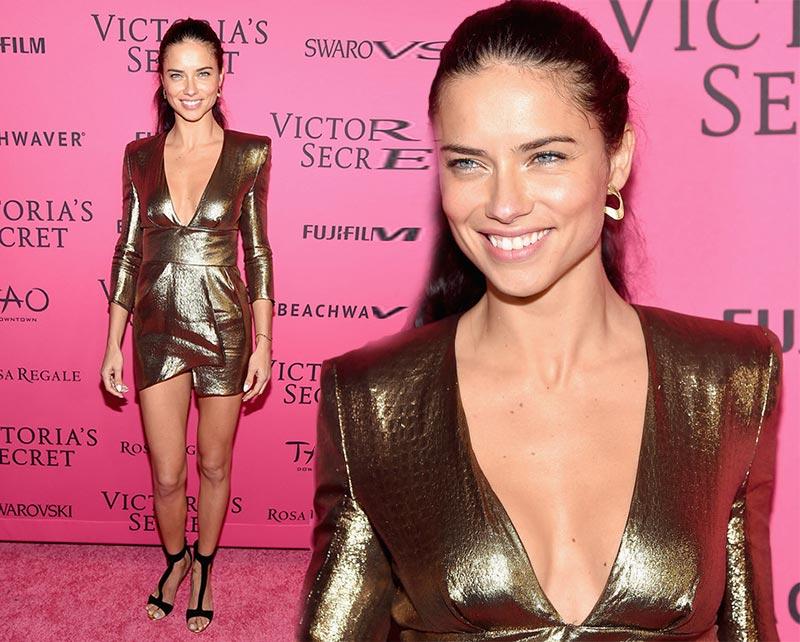 Victoria's Secret Fashion Show 2015 Pink Carpet: Adriana Lima