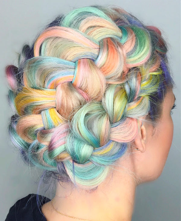 Pastel Macaron Hair Color Trend