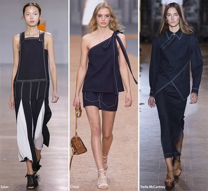 Spring/ Summer 2016 Fashion Trends: Contrast Stitching