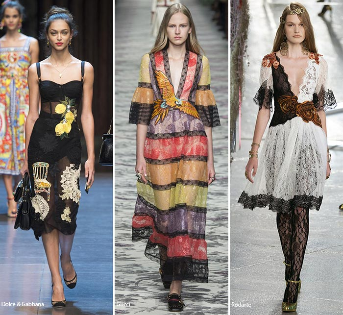 Spring/ Summer 2016 Fashion Trends: Lace