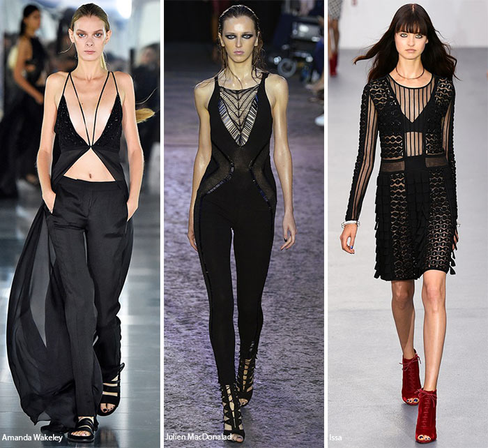 Spring/ Summer 2016 Fashion Trends: Peekaboo Black Pieces