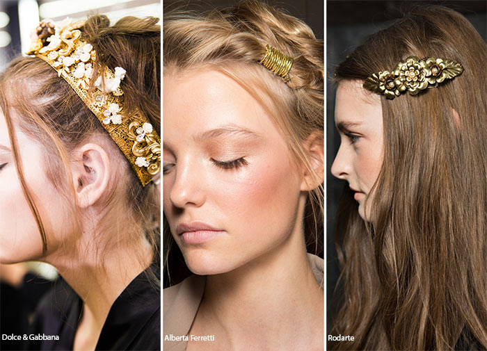 Spring/ Summer 2016 Hair Accessory Trends: Gilded Hair Accessories