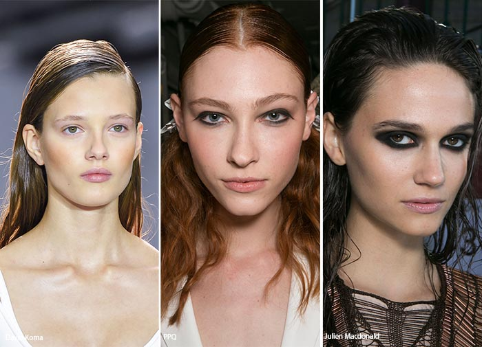 Spring/ Summer 2016 Hairstyle Trends: Wet-Effect Hair