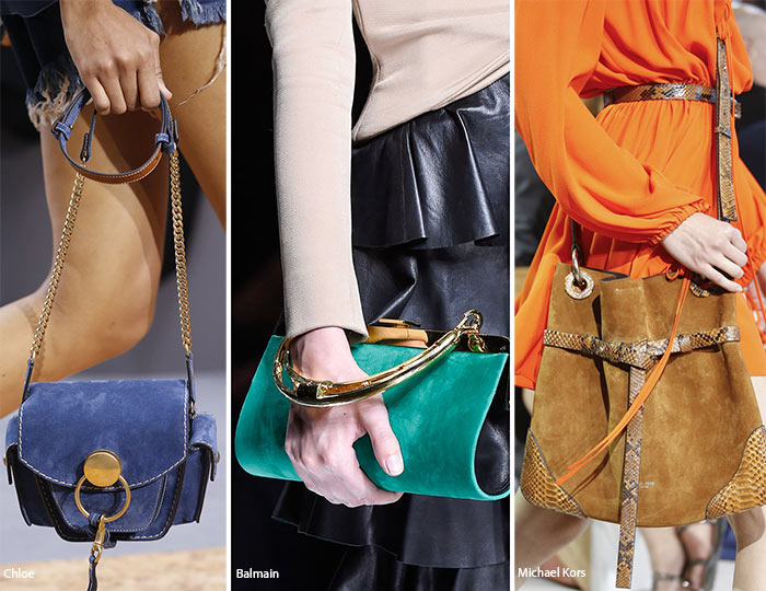 Spring/ Summer 2016 Handbag Trends: Suede Bags