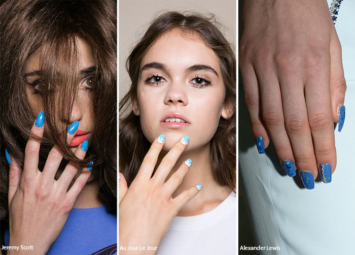 Spring/ Summer 2016 Nail Trends: Blue Manicure