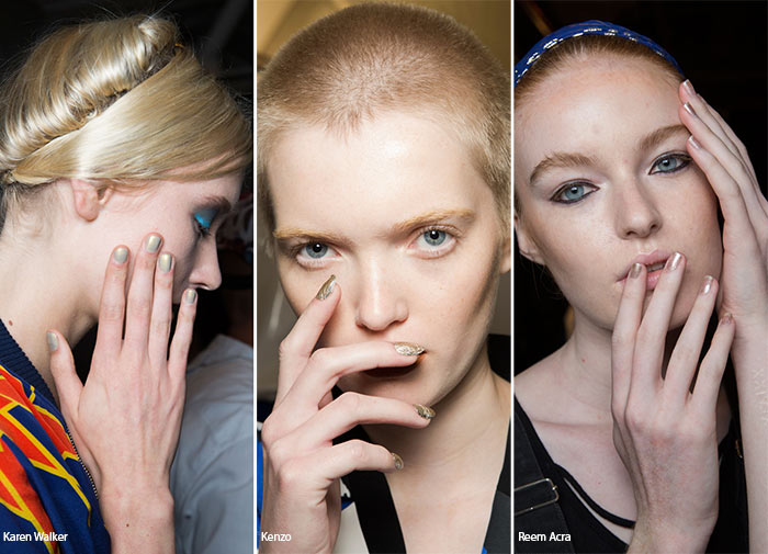 Spring/ Summer 2016 Nail Trends: Gold Manicure