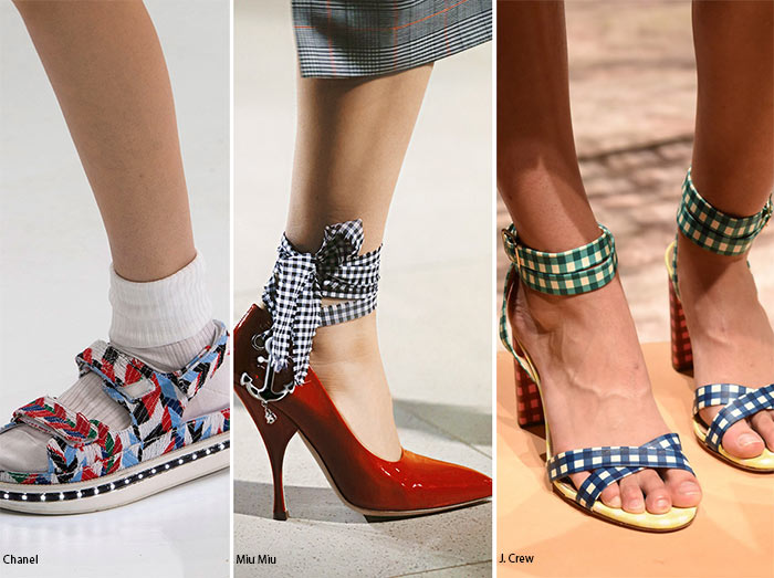 13df8419c012 Spring  Summer 2016 Shoe Trends  Gingham   Patterned Shoes