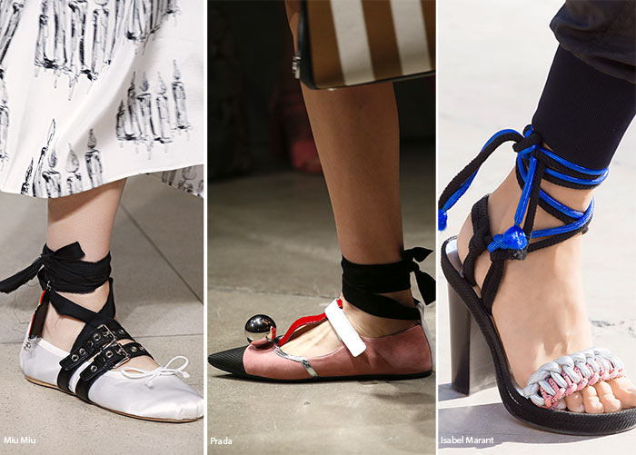 Spring/ Summer 2016 Shoe Trends: Shoes with Ankle Ties