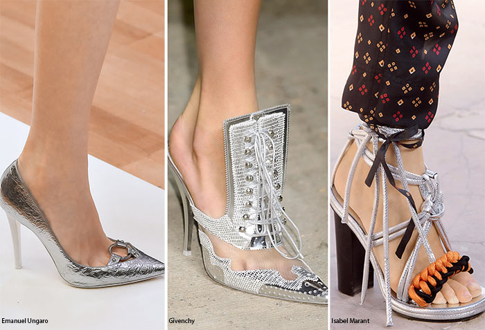 Spring/ Summer 2016 Shoe Trends: Silver Shoes