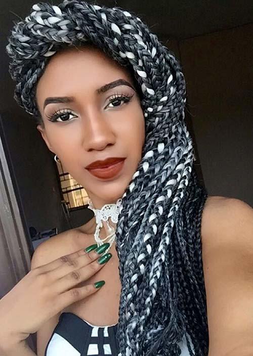 Hairstyles For Girls Black Box Braids 69