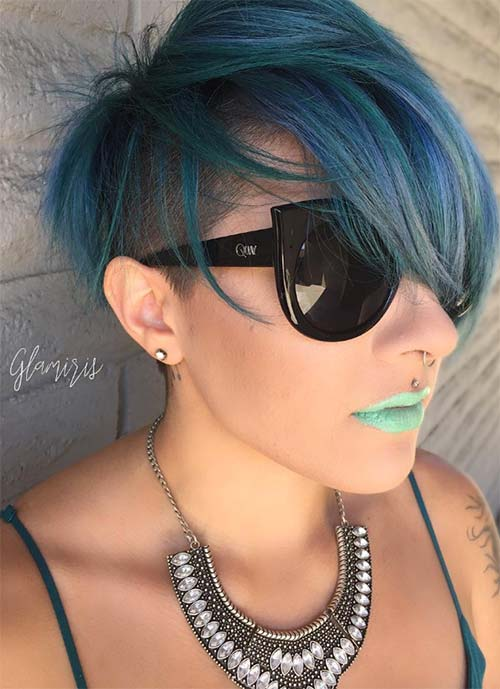 Short Hairstyles for Women: Balayage Undercut
