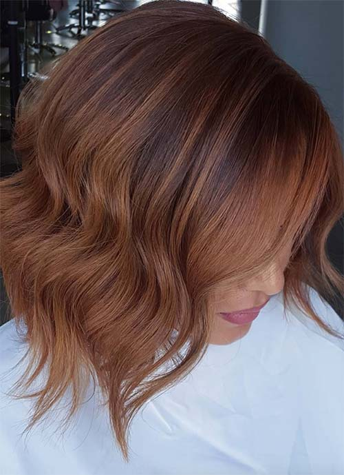 Short Hairstyles for Women: Copper Bob
